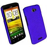 Net Case Handy Cover für HTC One X / S720e Blau