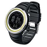 prosperveil Digitale Herren-Armbanduhr mit Kompass Höhenmesser Barometer Thermometer