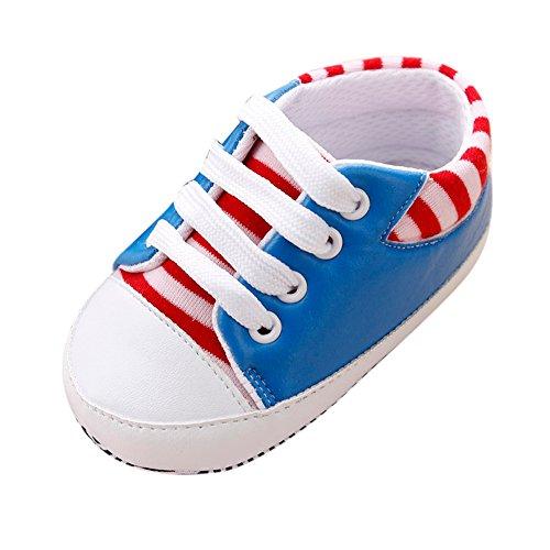 Baby Schuhe, Switchali Neugeborene Segeltuch Schuh Turnschuhe Soft Sole SchuheGirls Anti-Rutsch Kleinkind Prewalker für 0-12 Monat Blau