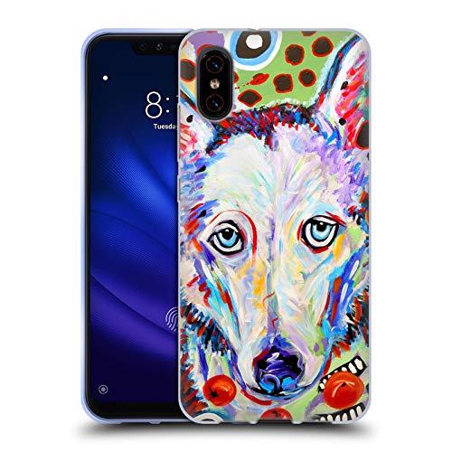 Head Case Designs Offizielle Mad Dog Art Gallery Husky DOO Hunde 2 Soft Gel Huelle kompatibel mit Xiaomi Mi 8 Pro (Doo Doo Head)