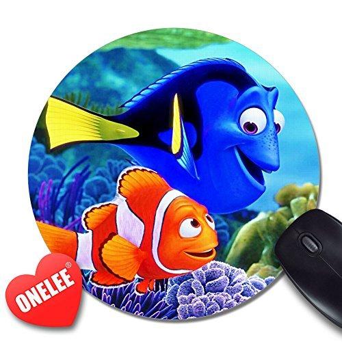 Onelee Disney Cartoon película Buscando a Nemo redondo alfombrilla de ratón Diseño de pez payaso ratón Pad–Ratón para videojuegos