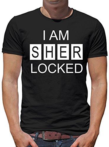 TLM I am Sherlocked T-Shirt Herren M (Kostüm Die Ermittler)