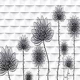 YiShuQiang Wallpaper Fototapeten Floral Pattern Wall Decoration Wandbilder Wohnzimmer Schlafzimmer Büro Flur Dekoration Fototapetens