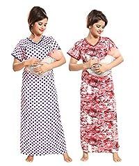 fe19ba7b410 Tucute Women Beautiful Polka Dotts print with invisible Zip + Floral Print  Feeding   maternity