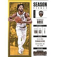 2017–18Dépasse Panini Season Ticket # 92Derrick Rose Cleveland Cavaliers Basketball carte