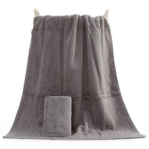 Upper-500 g dicke Badetuch Baumwolle nach paar Baumwolle weichen, saugfähigen Handtuch Set, grauen (Anzug Grauen Kleinkind)