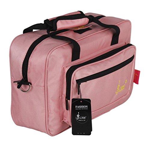 MagiDeal Klarinettenkoffer Softcase Koffer mit Tragegurt für Klarinette - Rosa
