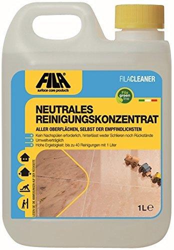 FILA Cleaner neutrales Reinigungskonzentrat für Marmor, Naturstein, Terrakotta, Cotto, Holz, Laminat 1 l. für bis zu 1500 qm -