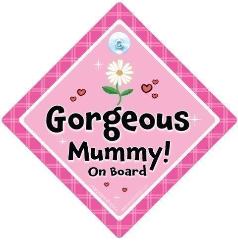 Superbe Panneau momie voiture, fleur rose, Sac à Langer Motif Yummy Mummy on Board, Bébéà Bord, Panneau de voiture, pare-chocs Sticker style, Baby on Board, Mum To Be