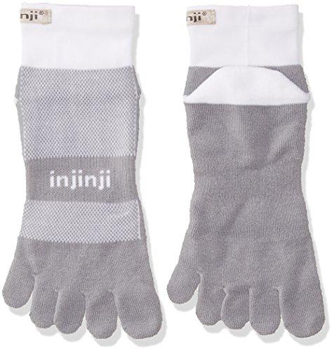 Injinji Run 2.0 Mid weight Mini Crew Cool Max Socken-Gray-White-XL (47-50)