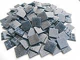 Mosaiksteine 2x2 cm Graublau Unifarben 4 mm starke lose Glasmosaik Steine zum Basteln