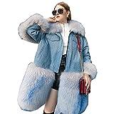 JKYIUBG Daunenjacke Autum Winterjacke Damen Kleidung 2019 Korean Coat Fur Parka Femme Korean Vintage