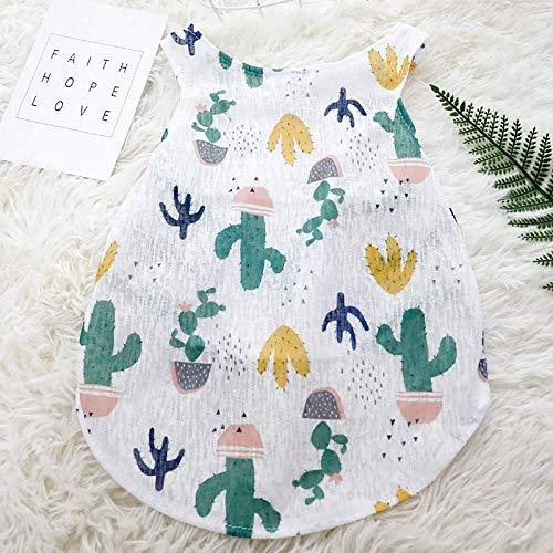 Zubehör Hundebekleidung Welpen Kostüm Kleine Und Mittlere Hunde Sommer Dünnschnitt Weste XL (Büste 55 Rückenlänge 35) Kaktus Muster (Kaktus Kostüm Muster)