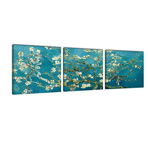 3 Paneles Van Gogh Albaricoque Árbol Flor Pintura
