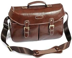 Sanlise(TM) PU DSLR SLR Camera Case Bag For Canon D3200 650D 60D / Coffee Color