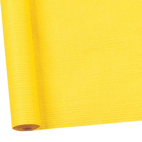 Susy Card 11094778 Tischtuchrolle, Papier, bedruckt, 1.18 x 7 m, geprägt gelb
