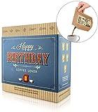 Geburtstags-Geschenk Box, 5 Stk Coffeebrewer mit Spezialitäten-Kaffee, ideale Geschenkidee für Kaffee-Liebhaber (Mehrweg)