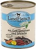 LandFleisch | Pur Geflügelherzen & Seelachs | 6 x 800 g