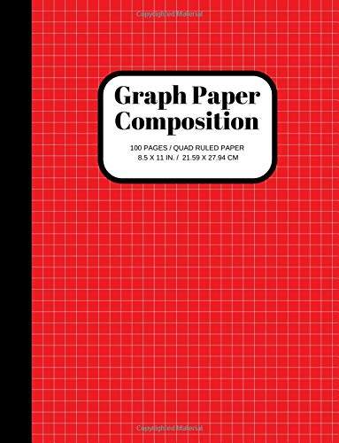 Graph Paper Composition Notebook: Grid Paper Notebook, Quad Ruled, 100 Sheets (Large, 8.5 x 11) por Joyful Journals