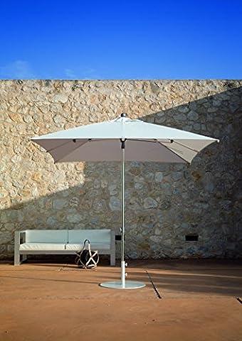 Parasol Jardin | Crème | 250 x 250 cm / 2.5 x 2.5m | Carré / Rectangulaire | SORARA | MILANO | Polyester 250 g/m² (UV