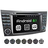 XOMAX XM-08ZA Autoradio passend für Mercedes W211 W219 W463 mit Android 8.1, 4Core, GPS Navigation, DVD, CD I Support: WiFi 4G, DAB+, OBD2 I Bluetooth, 7Zoll / 18cm Touchscreen, USB, SD