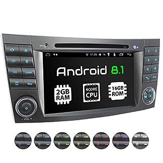 XOMAX-XM-08ZA-Autoradio-passend-fr-Mercedes-W211-W219-W463-mit-Android-81-4Core-GPS-Navigation-DVD-CD-I-Support-WiFi-4G-DAB-OBD2-I-Bluetooth-7Zoll-18cm-Touchscreen-USB-SD