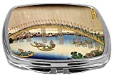Rikki Knight Compact Mirror, Katsushika Hokusai Art Tenma Bridge, 3 Ounce Amazon