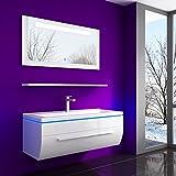 Badmöbel Duschkabine Set Duschabtrennung (Ohne, Badmöbelset 70 cm OHNE Hängeschrank Weiß)