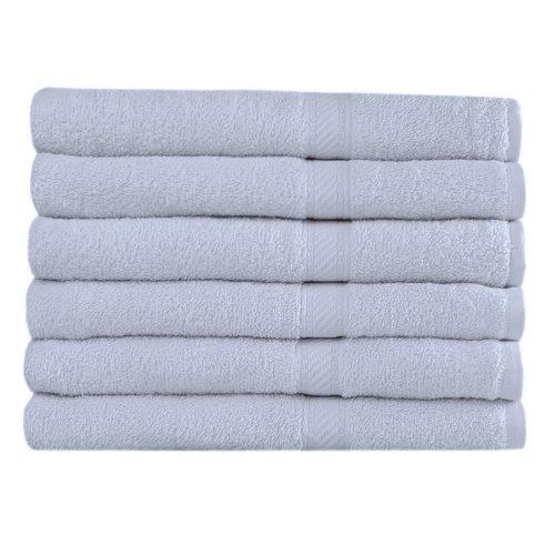 Westward Ho! 390GSM - Juego de 6 toallas de baño (70 x 120 cm, algodón), color azul