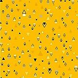 Leinen Lodge Boho Dreieck Serie 100% Baumwolle SENF Webware