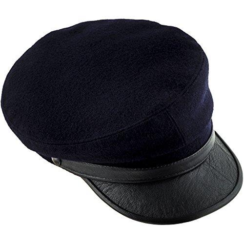 sterkowski maciejówka Casquette Visière en cuir Marinenblau/Schwarz