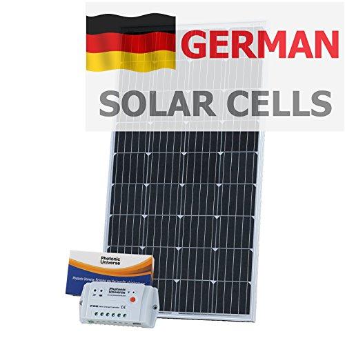 150w 12v photonic universo solare ricarica kit in tedesco celle solari con 10a controller e cavo di 5m per 12v o batteria esterna
