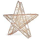 Snowera Led Dekorationsleuchte | Weihnachtsbeleuchtung Aus Metall In Kupfer Mit 140 Micro Ledâ´S | Lichtfarbe: Amber/Bernstein | Form: Stern