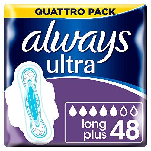 Serviettes - Hygiéniques Always Ultra Long avec Ailettes Quattro Pack, 4 x...
