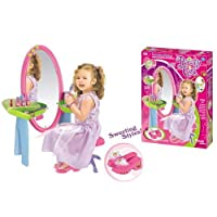 ZUMZ NEW KIDS LITTLE GIRLS PRINCESS DURABLE DRESSING VANITY TABLE MIRROR PLAYSET PLAY SET GLAMOUR BEAUTY MAKEUP TOYS GIFT