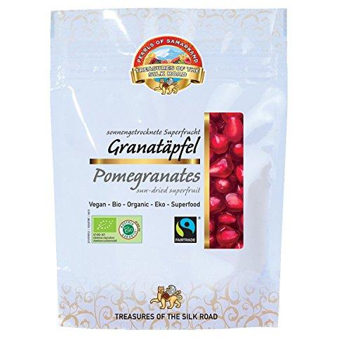 Bio Granatapfelkerne 700g Granatapfel Granatäpfel mit Fruchtfleisch getrocknet ungeölt ungesüsst Rohkost Fairtrade 7er Pack