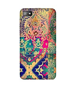 Textile Print India Printed Back Cover Case For BlackBerry Z10