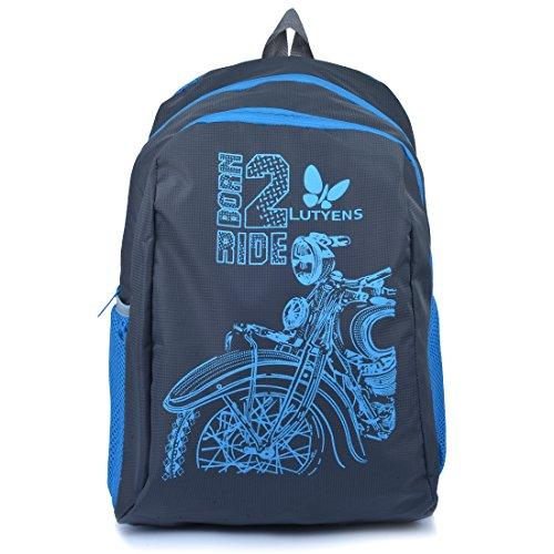 Lutyens Grey Blue Born 2 Ride Lightweight School Bags (17 Liters)