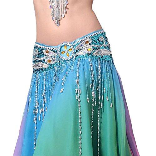 Dance Accessories Danza del ventre Sciarpa With Beaded (Sciarpa Danza Del Ventre Costume Cintura)