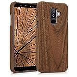 kwmobile Samsung Galaxy A6+/A6 Plus (2018) Cover Legno - Custodia in Legno di Noce Naturale - Case Rigida Backcover per Samsung Galaxy A6+/A6 Plus (2018)