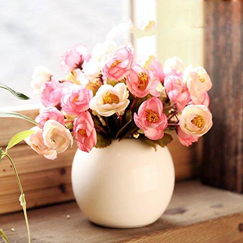 mesmj-passer-de-table-a-billes-en-ceramique-de-petites-roses-fraiches-idyllique-de-vases-dornements-