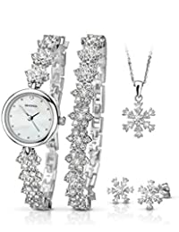 Sekonda 2087G Snowflake Christmas Gift Set Watch, Bracelet , Earrings and Necklace