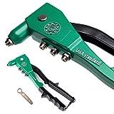 Blindnietzange 2,4-4,8 mm | Profi-Werkzeug | Handnietzange/Nietzange mit hochwertigen Aluminiumgehäuse | geeignet für STAHL, EDELSTAHL und ALU-Nieten | inkl. Montage-Schlüssel