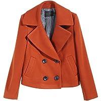 Cappotto di lana breve paragrafo signora risvolto di lana del rivestimento Il nuovo autunno e (Tamburo Con Collare)