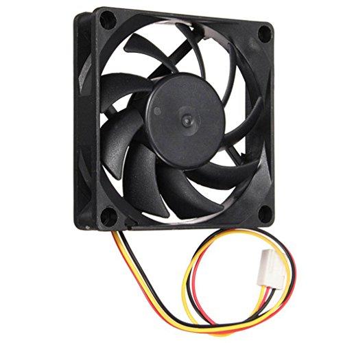 artistic9(TM) 70mm 12V Ordenador/PC/CPU silencioso ventilador de refrigeración caso