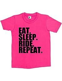 Fancy A Snuggle Eat. Sleep. Ride. Repeat. Bike Horse Motorbike Kids Boys / Girls T-Shirt