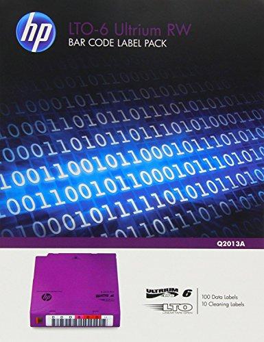 Preisvergleich Produktbild HP Ultrium 6 RW Bar Code Label Pack - Strichcodeetiketten - für StoreEver MSL2024, MSL4048, MSL8096\; StoreEver 1/8 G2 Tape Autoloader