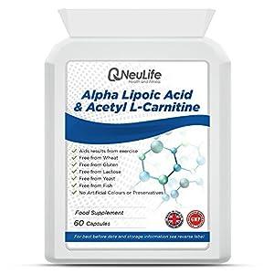 51dN1NR2MQL. SS300  - Neulife Alpha Lipoic Acid 100mg & Acetyl L-Carnitine 400mg, 60 Capsules, Vitality Cognitive