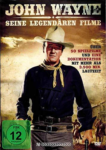 John Wayne - Seine große Filmbox - mit 50 legendären Filmen [16 DVDs]