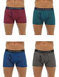 4 Pairs of Mens Tom Franks Modal Trunks Boxer Shorts Underwear Briefs (SMALL)